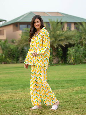 Ananaas Soft Cotton Pajama Set - Pinklay