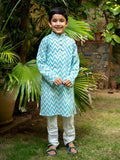 Blue Sky Organic Cotton Long Kurta - Pinklay