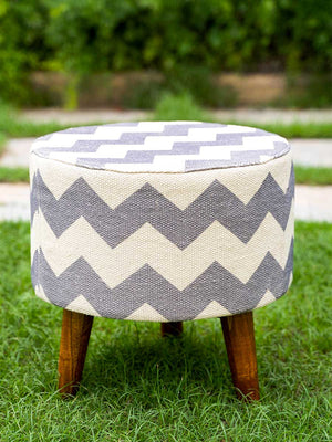 Grey Matter Upholstered Ottoman - Pinklay