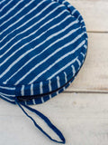 Indigo Stripes Cotton Foldable Hat With Case - Pinklay