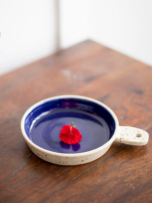 Midnight Blue Hand-Thrown Ceramic Tapas Platter – Pinklay