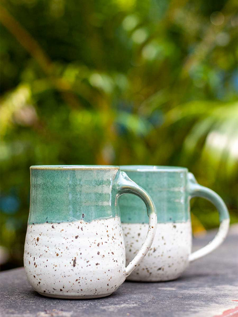 Sea Green Speckled Coffee Mug - Pinklay