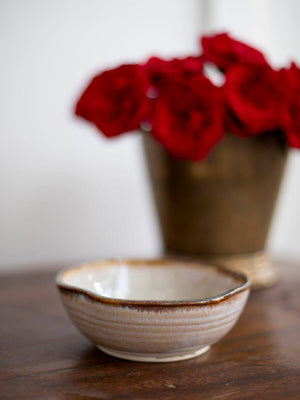 Serenity Uneven Round Ceramic Bowl - Pinklay