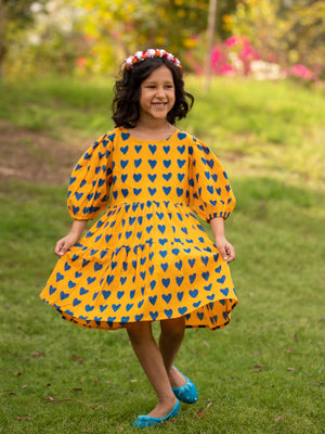 Sweetheart Everyday Dress With Balloon Sleeves - Pinklay