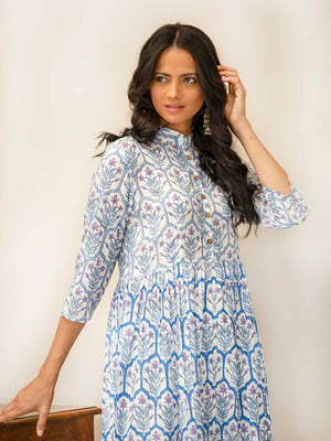 Vasl Modal Silk Long Kurta - Pinklay