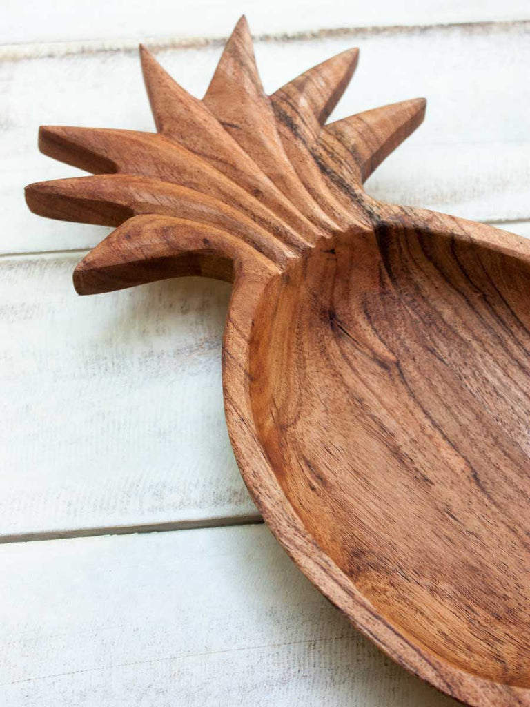 Ananas Handcarved Solid Wood Snack Bowl