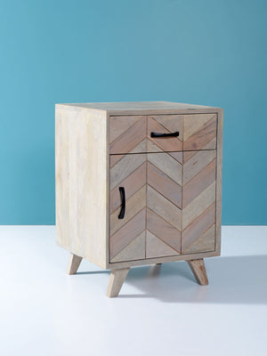 Anya Solid Wood Side Table With Storage