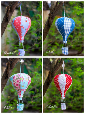 Hot Air Balloon Hanging Kids Decor - Set of 2 - Pinklay