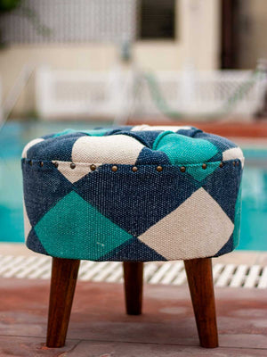 Mosaic Tufted Ottoman - Pinklay