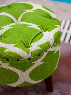 Rainforest Tufted Ottoman - Pinklay