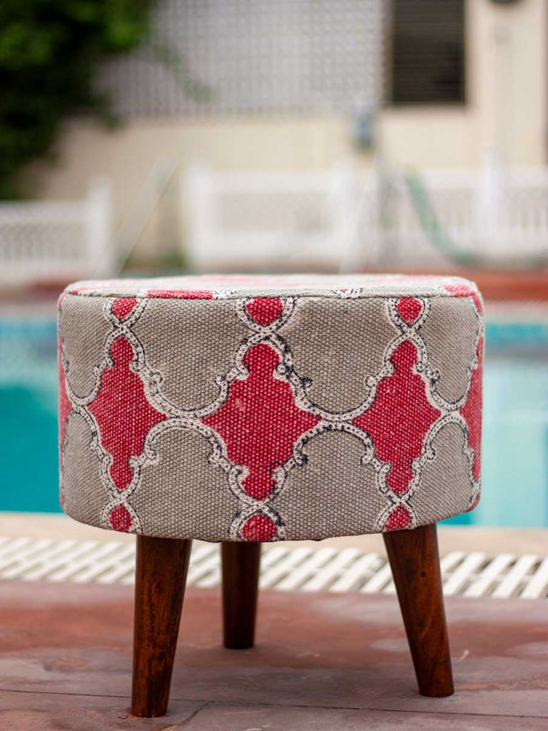Royal Arch Upholstered Ottoman - Pinklay