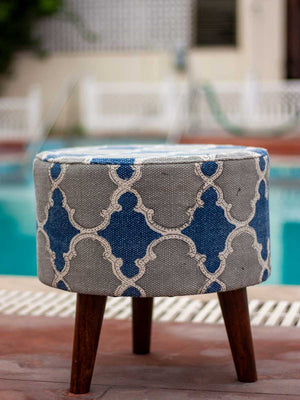 Royal Palace Upholstered Ottoman - Pinklay