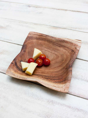 Stanley Handcarved Solid Wood Snack Platter - Pinklay