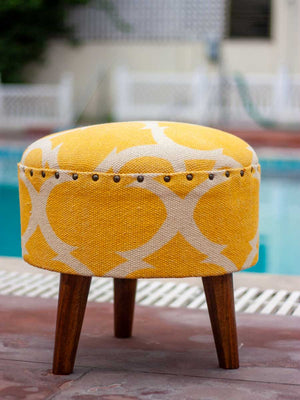 Sunrise Upholstered Ottoman - Pinklay