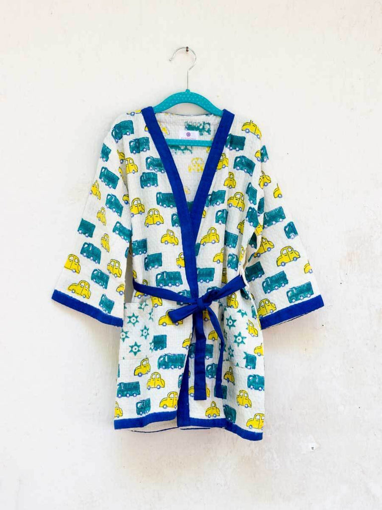 Power Wheels Premium Waffle Cotton Bath Robe - Pinklay