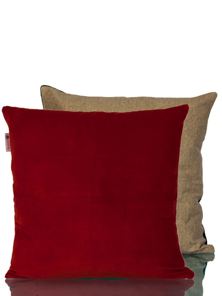 Scarlet Cotton Velvet Cushion Cover Cushions