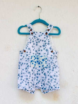 Starry Night Organic Cotton Dungarees - Pinklay
