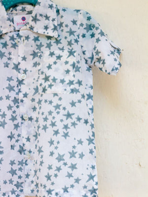 Starry Night Organic Cotton Shirt - Pinklay