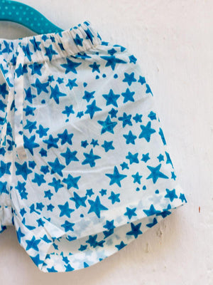 Starry Night Organic Cotton Shorts Kids Clothing