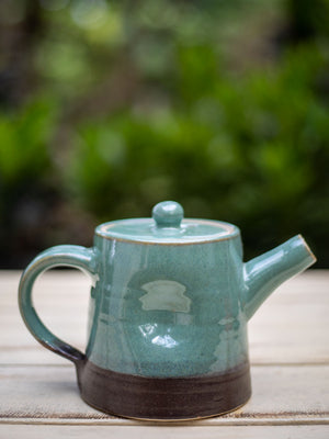Turquoise Fall Hand-Thrown Dimpled Ceramic Tea Pot - Pinklay