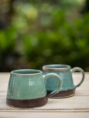 Turquoise Falls Coffee Mug - Set of 2 - Pinklay