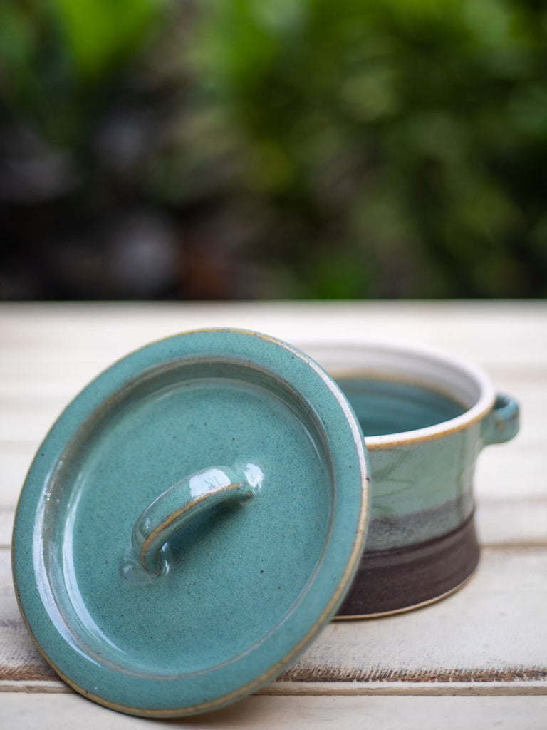Turquoise Fall Stoneware Heat, Serve, Store Casserole - Pinklay