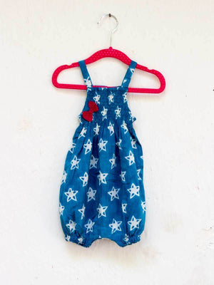 Twinkle Star Organic Cotton Romper - Pinklay