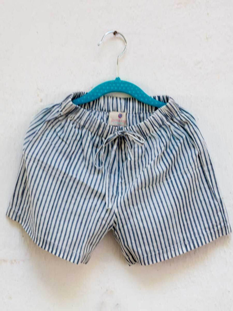 Zebra Lines Organic Cotton Shorts Kids Clothing