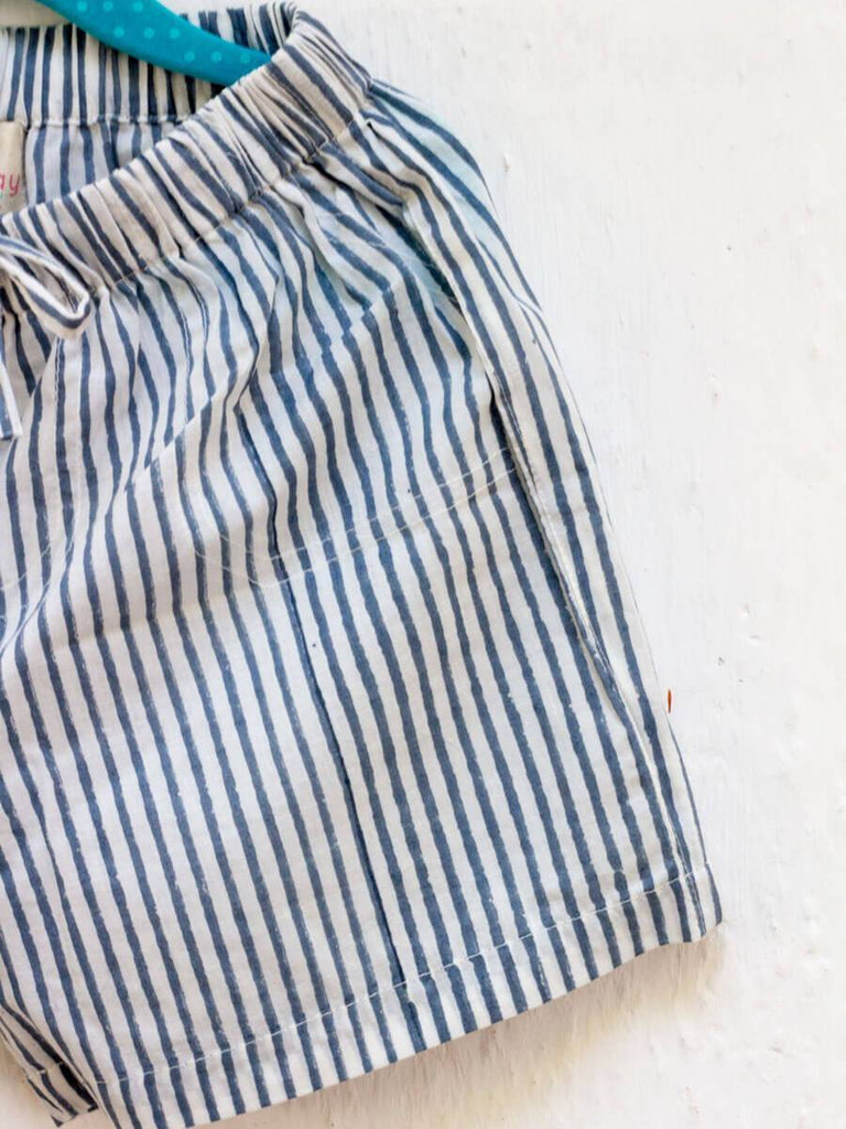 Zebra Lines Organic Cotton Shorts - Pinklay