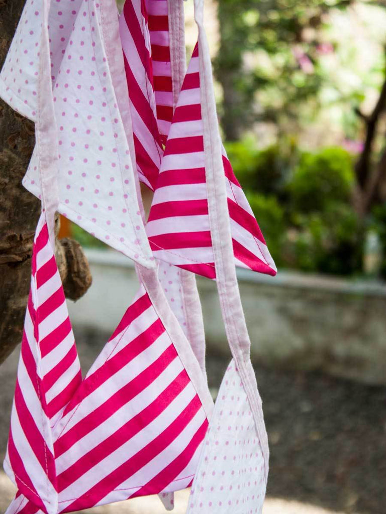 Blush Pink Cotton Bunting Flag Set - Pinklay
