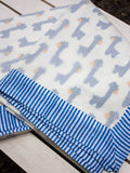 Blue Giraffe Organic Cotton Dohar Blanket - Pinklay