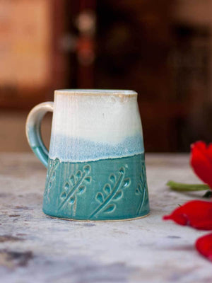 Green Mist Hand-Thrown Ceramic Jug - Small - Pinklay
