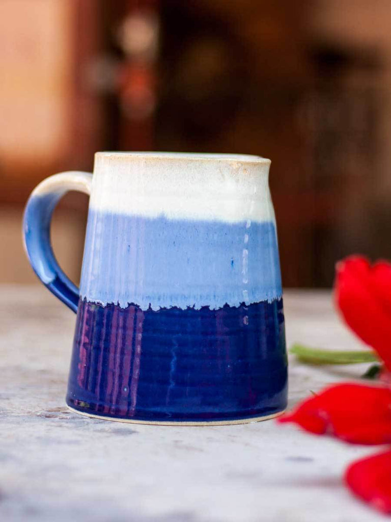 Indigo Diaries Hand-Thrown Ceramic Jug - Small - Pinklay