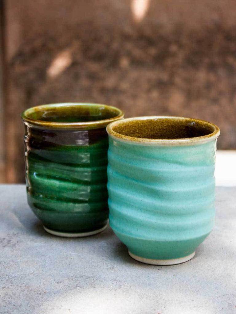 Whirlpool Emerald Hand-Thrown Ceramic Tumbler Ceramics