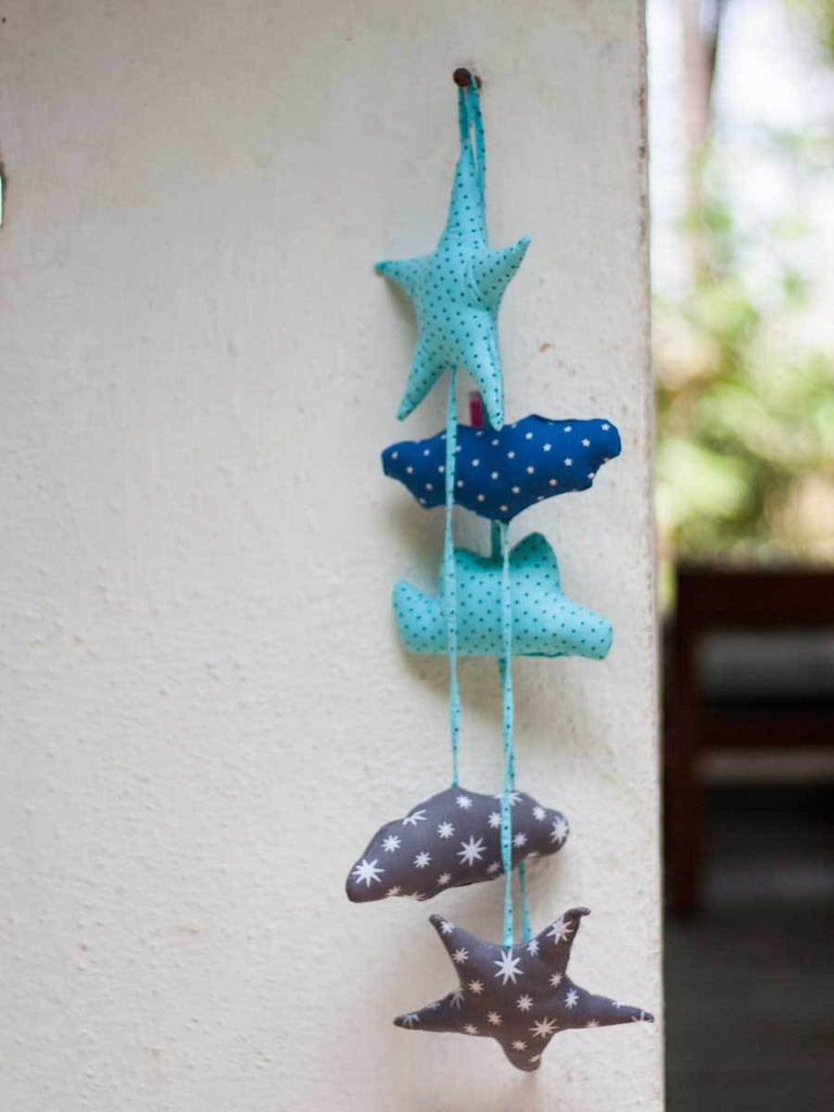 Star and Cloud Hanging Decor - Pinklay