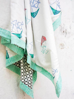 Kite GOTS Certified Organic Cotton Reversible Dohar Blanket Kids Quilts & Dohars