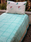 Kite Cotton Single Bed Sheet Set - Pinklay