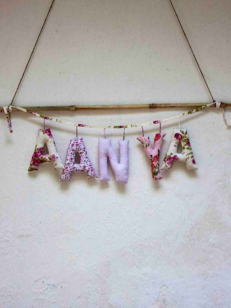 Personalized Name Decor - Bougainvillea - Pinklay