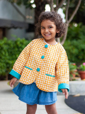 Sunrise Superstar Organic Cotton Quilted Tea Cup Jacket