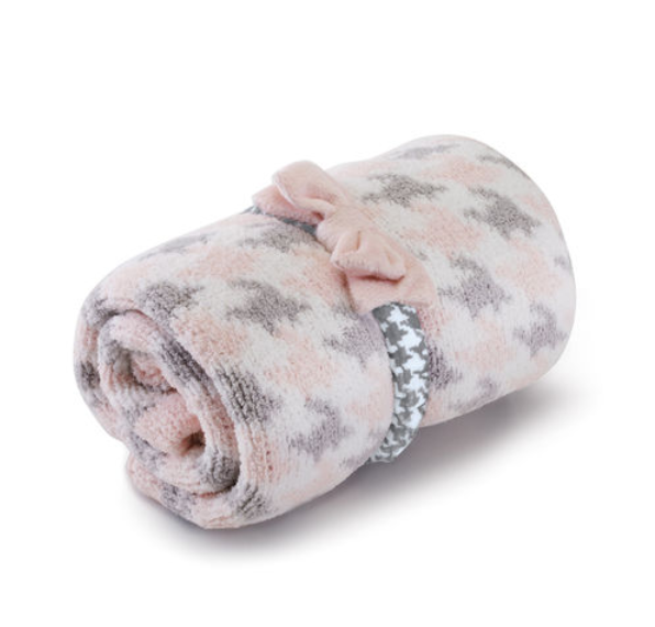 Chenille Blanket & Headband Set