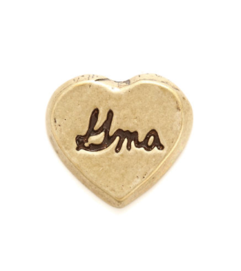 Locket Charm- Antique Gold Heart - Gma