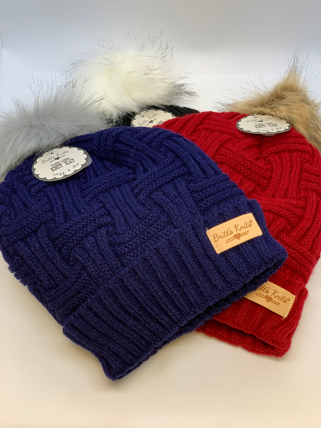 Ladies Lined Knit Hat w/Pom
