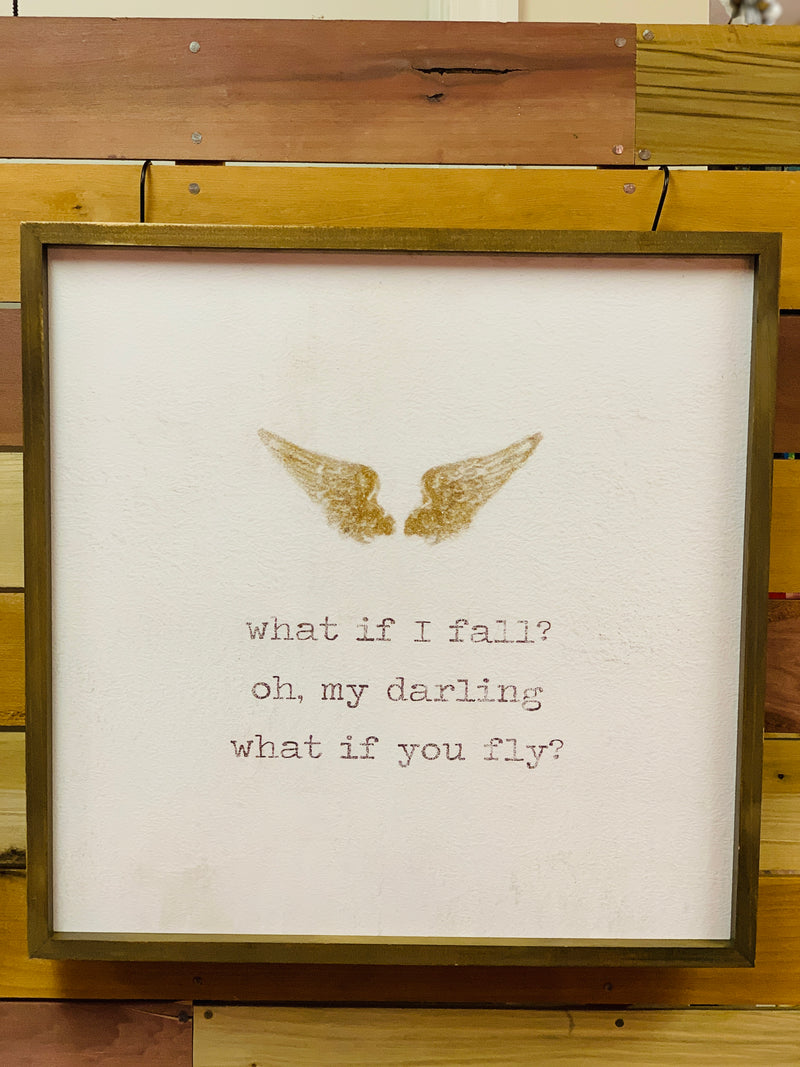 What if I Fall? Oh, My Darling What if You Fly.
