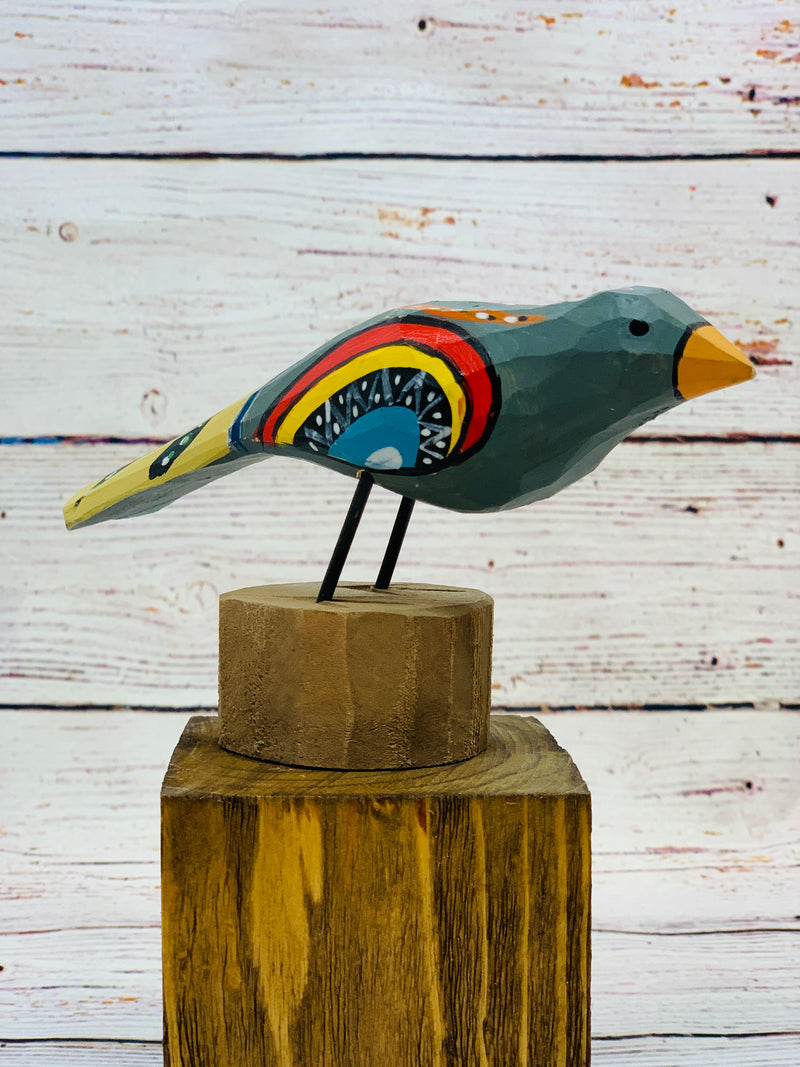 Colorful Wooden Bird