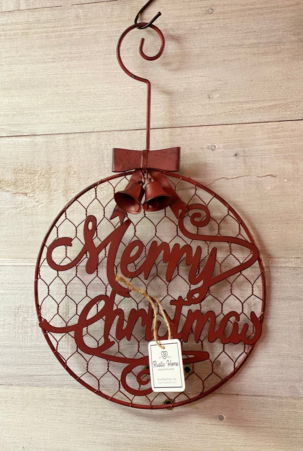 Metal Ornament-Red-Door Hanger