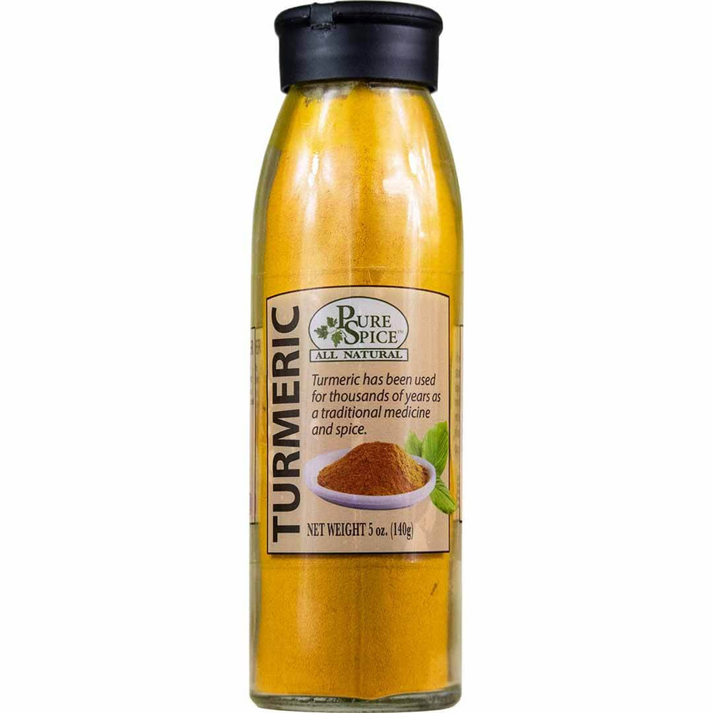 Turmeric Powder - 5 Oz Glass Shaker - La Selva Beach Spice