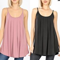 Pleated Basic Cami