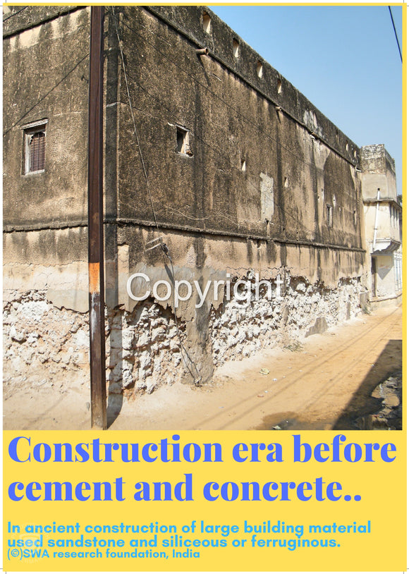 Construction era before cement and concrete.....