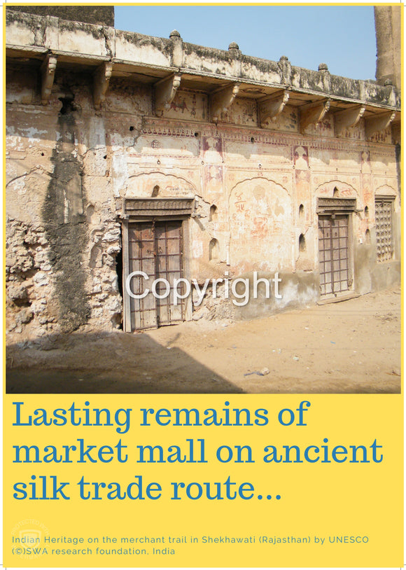 Lasting remains of market mall on ancient Silk Trade Route...