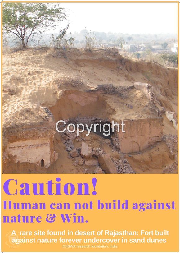 Human can not build against Nature & Win.